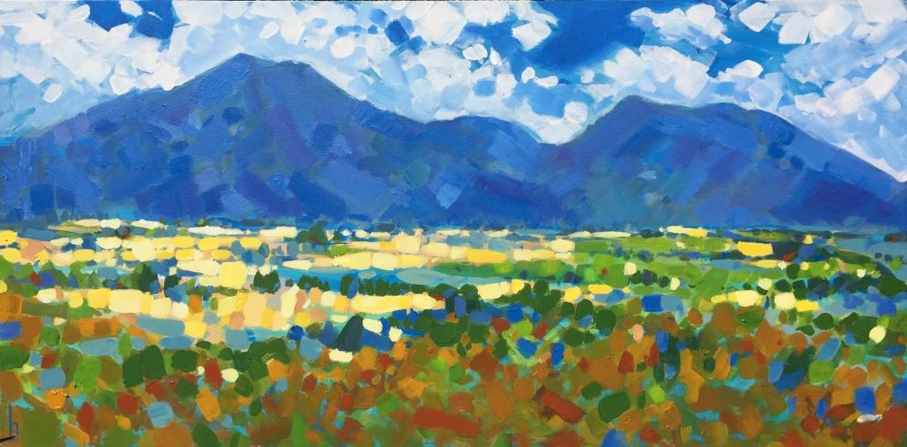 Heather Castles oil painting landscape sleeping beauty mountain Victoria Australia