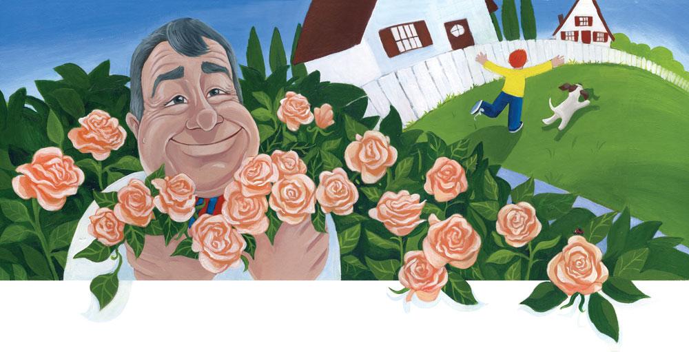 Heather Castles acrylic painting children's book illustration