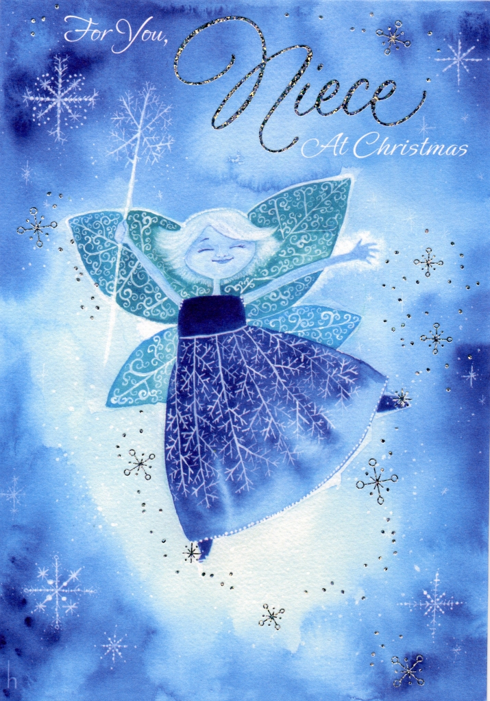 Heather Castles watercolour painting Christmas fairy greeting card illustration