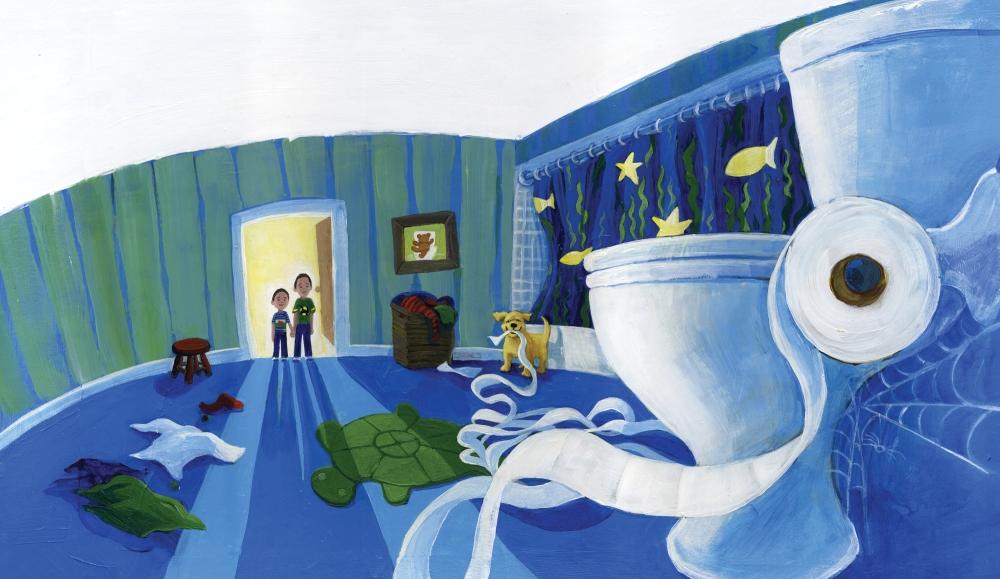 Heather Castles acrylic painting children's book illustration turtles