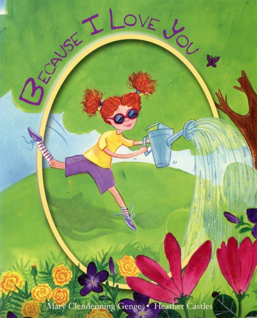 watercolour illustrations little girl garden mother