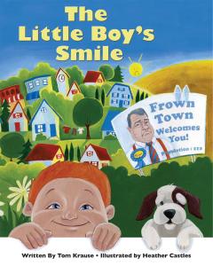 encouragement happy grumpy story illustrated boy dog