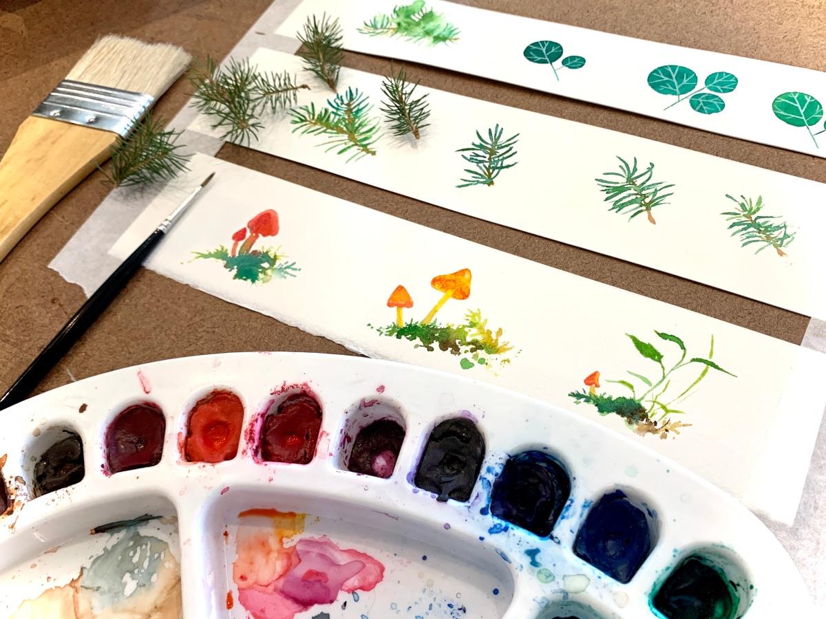 Canadian Ontario Algonquin paintings landscape flora fauna watercolours Heather Castles