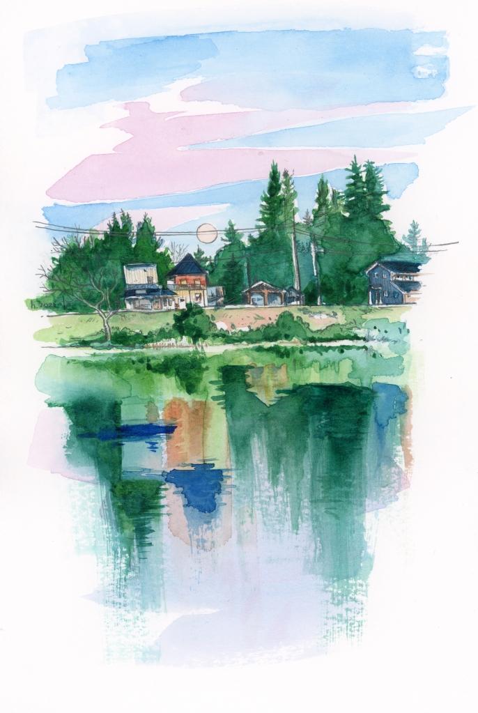 watercolour sketch Ontario canada