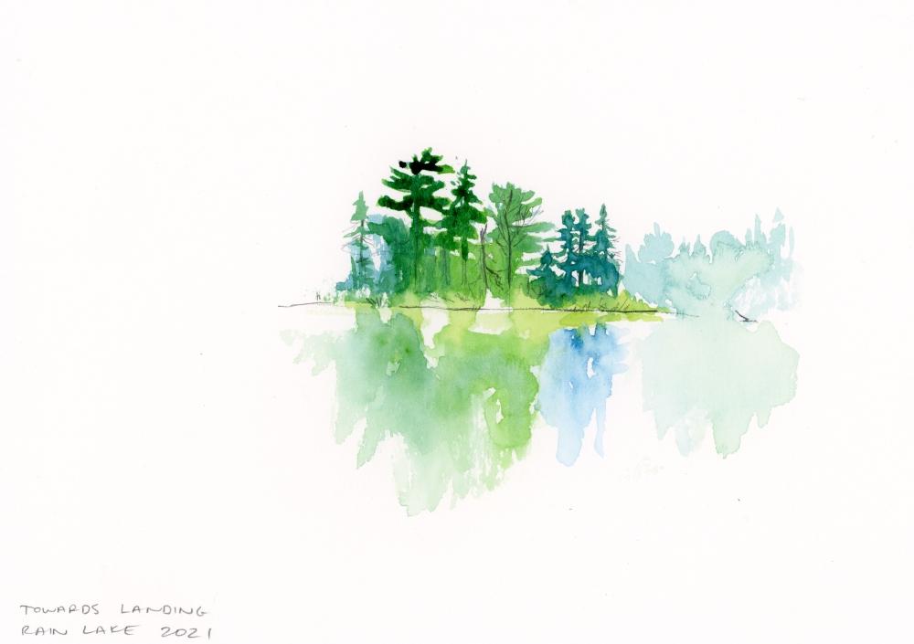 enpleinair watercolour sketch Ontario canada